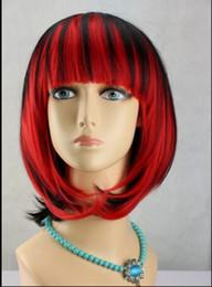 Red anime haiR wig online shopping - WIG AZ6 Heart no Kuni no Alice Boris Airay Short Red Black Magenta Anime Cosplay Hair Wig Short