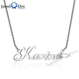 $enCountryForm.capitalKeyWord Australia - Russia Nameplate Necklace Personalized 925 Sterling Silver Name Necklace Christmas Jewelry Gift For Women (jewelora Ne101548) J190711
