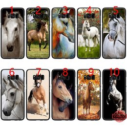 $enCountryForm.capitalKeyWord Australia - Watercolor horse Running Horses Soft Black TPU Phone Case for Samsung Note 9 8 S8 S9 Plus S6 S7 Edge Cover