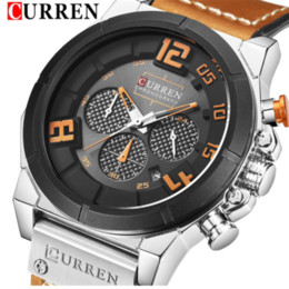 Discount curren sport watches Curren Men's Brand Business Waterproof Quartz Watch Casual Fashion Calendar Leather Watch
