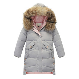$enCountryForm.capitalKeyWord Australia - Kids Girl Boy Winter Faux Fur Hooded Padded Parka Down Coat Puffer Jacket Overcoat Hoodie Thick Outerwear Clothes