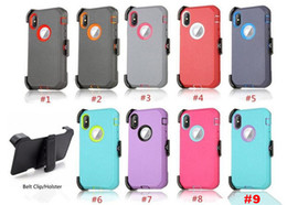 Iphone Case Clip Combo Australia - For Iphone XS XR XS MAX 8 plus 7 6s Armor Hybrid Case 3 in 1 Combo Holster Belt Clip Protective Defender Kickstand Phone Cover with clip