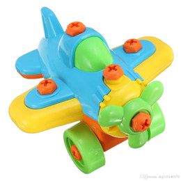 Blocks Plane Australia - New DIY Disassembling Small Plane Building Blocks Children Assembled Model Tool clamp With Screwdriver Educational Toys