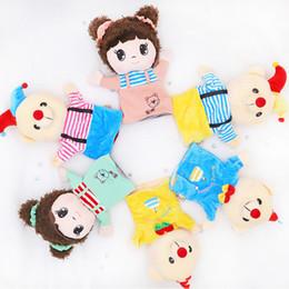 $enCountryForm.capitalKeyWord UK - candice guo cute plush toy lovely cartoon clown bear birthday cake bear little girl soft hand puppet birthday Christmas gift 1pc