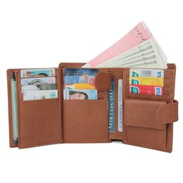 Mens Leather Casual Card Australia - wallet mens wallets mens wallet short casual cow genuine leather coin and multi credit card holders packet wallet ST209