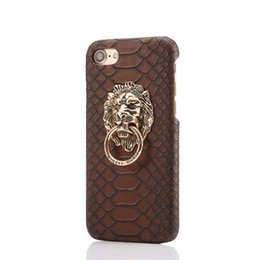$enCountryForm.capitalKeyWord UK - Cell Phone Cases Simple Snake-skin Lion Head iPhone 6 Mobile Shell Apple 6plus Protection Ring Bracket Hard Shell