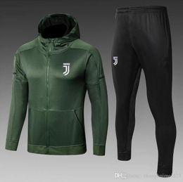 Best quality DYBALA Hooded training wear football Jerseys Kits 2018 HIGUAIN  MANDZUKIC CHIELLINI MARCHISIO PJANIC Football Shirts sets bdfd231be
