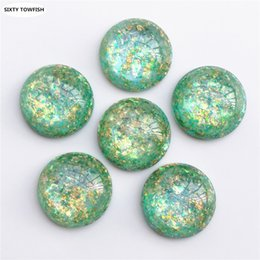 resin beads for jewelry making NZ - 100 pcs Round Resin charms beads Diameter 25mm Cabochon Dome Flat back diy for jewelry making charm Pendant E2060