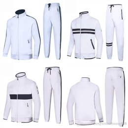 High Quality Embroidery Australia - Spring Autumn Men's 2Pcs Suits Set Casual Sports Suits embroidery Logo Sweatshirts Pant Mens Jacket Brand Clothing High Quality New for