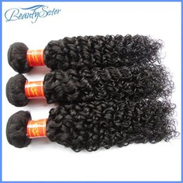 Hair extensions black girls online shopping - Beautysister hair products malaysian kinky curly human hair extensions bundles g natural black color g for black girl
