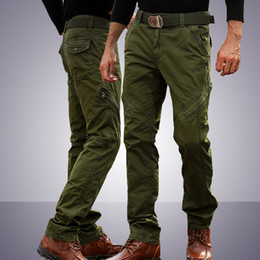 Wholesale cargo pants resale online - New Design Casual Army Style Hiking Wear Tactical Pant Working Trousers Cotton Knee Zipper Long Pants Men Trouser Army Cargo Pants