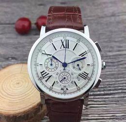 $enCountryForm.capitalKeyWord Australia - All dials working Stopwatch Men Watch Luxury Watches With Calendar Leather Strap Top Brand Quartz Wristwatch for men High Quality Best Gift