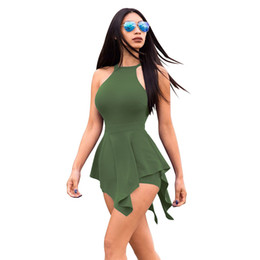 91e4e05322d5 New fashion Women Summer Solid Jumpsuit Sexy Suspenders Chest Bow Tie Sling  Short Rompers One Piece Outfits Playsuit Overalls Clothing