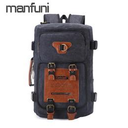 $enCountryForm.capitalKeyWord NZ - Vintage Canvas Backpack Men Large Capacity Travel Backpacks for Men Design Multifunction Hand Bag Functional Shoulder Bag Pack