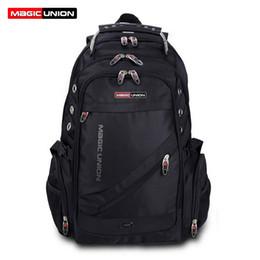 $enCountryForm.capitalKeyWord NZ - Magic Union Brand Design Men's Travel Bag Man Swiss Backpack Polyester Bags Waterproof Anti Theft Backpack Laptop Backpacks Men J190425