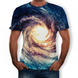 Discount boys summer skull t shirts - Men T Shirt New Fashion Skull 3D Star vortex Printed Tee Plus Size S-3XL Cool casual boys loose summer tops camisetas ho