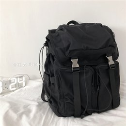 string computers UK - Wind shoulder bag female tooling tide ins simple high-capacity computer backpack schoolbag male college students wind Harbor