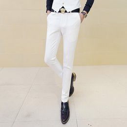 $enCountryForm.capitalKeyWord Australia - Men White Dress Pants Male Skinny Slim Fit Trousers White Men Suit Pants Trousers Male Classic Desinger Brand Red Black 10 Color