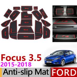 $enCountryForm.capitalKeyWord Australia - Anti-Slip Gate Slot Mat Rubber Coaster for Ford Focus 3 3.5 MK3 2015 2016 2017 2018 facelift ST RS Accessories Car Stickers