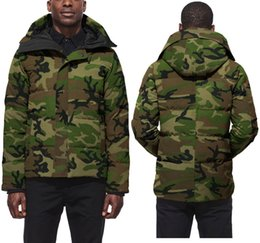 $enCountryForm.capitalKeyWord Australia - DHL Wolf Hair Men Parkas CANADA Style Down Parkas Jacket Brand White Duck Men'S Outerwear Coats Camouflage Down Jacket