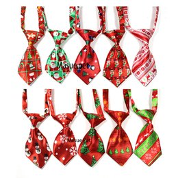 Tie Necktie Bow Dogs Australia - 50pcs Christmas Pet Dog Neckties Bow ties Handmade Adjustable Pet Dog Ties Festival Neckties Dog Grooming Supplies D19011506