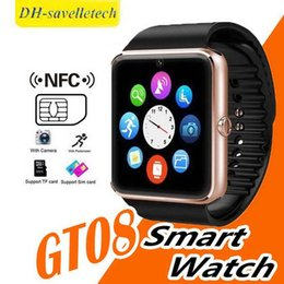 bluetooth smart watch sim Australia - Smart Watches GT08 Reloj Inteligente Wristband Support Sim Card Bluetooth Connectivity for Iphone Android Phone Smartwatch