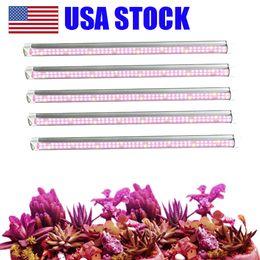 T8 LED Işık Büyümek 2ft 3ft 4ft Bitki Bar Strip Tüp, Tam Spektrum Güneş Işığı Değiştirme Kapalı Bitkiler için Yüksek Par ile ABD stok