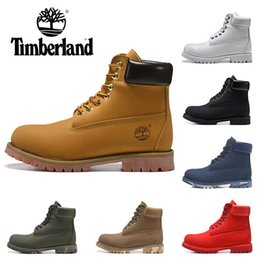Boys Blue top online shopping - 2019 Timberland boots designer luxury boots mens winter boots top quality womens Military Triple White Black Camo size