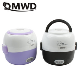 $enCountryForm.capitalKeyWord NZ - Dmwd Mini Rice Cooker Insulation Heating Electric Lunch Box 2 Layers Portable Steamer Multifunction Automatic Food Container Eu C19041901