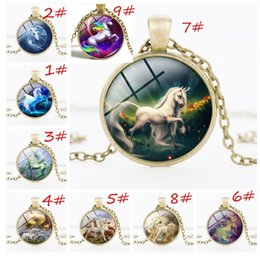 $enCountryForm.capitalKeyWord NZ - Vintage Alloy`Necklace Hot Sale Jewelry Pegasus Unicorn Time Gemstone Necklace Alloy Pendant European and American Fashion Jewelry Ancient B