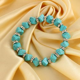 $enCountryForm.capitalKeyWord Australia - New fashion 10pcs lot Classical Vintage Turquoise bracelet Cute Pendant Tibet Silver Natural Stone Bangle gifts
