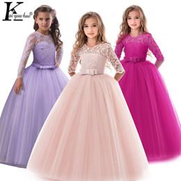 Dresses for 14 year girls online shopping - Summer Girls Princess Dress Teenage Children Evening Wedding Dress Kids Dresses For Girls Year Vestido Infantil Q190522