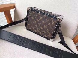 Box handles online shopping - 2019 M20101 Women Fashion Old Flower Brown Box Shoulder Bags Hobo Handbags Top Handles Boston Cross Body Messenger Shoulder Bags