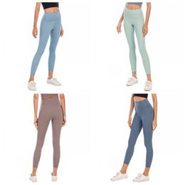 Wholesale sexy leggings yoga pants for sale - Group buy LU Exercise Yoga Tights Pants Skinny Solid Color Elastic High Waist Slim Leggings Pant Womens Sexy Trouser Female Apparel Clothing dq E19