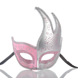 China hot sale New Halloween Half Face Ladies Dress Up Ball Plastic Carnival Creative Mask Bar Nightclub Princess mask online free cheap dresses for weddings online suppliers