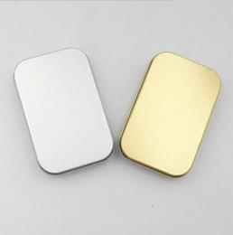 $enCountryForm.capitalKeyWord Australia - Popular Tin Box Silver gold Metal Storage Box Case Organizer For Money Coin Candy Keys U disk headphones gift box