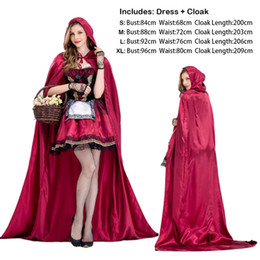 $enCountryForm.capitalKeyWord NZ - Cosplay Costumes for Girls Women Halloween Christmas Role Play Evil Little Red Cap Dress Cloak New Princess Queen Stage Wear Clothing