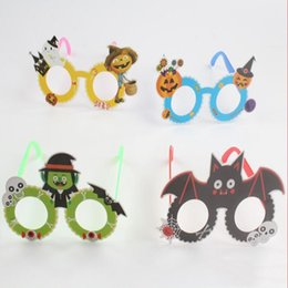3D Monster Printed Halloween Funny Glasses Creative Personality Funny Glasses Baby Toy Halloween Party Decorations Gift WY503Q on Sale