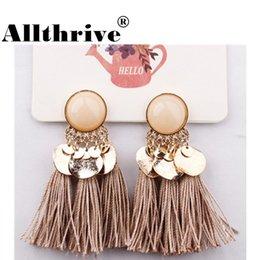 $enCountryForm.capitalKeyWord Australia - 2018 Ethnic Bohemia Women Dangle Drop Earrings Summer Round Resin Tassel Earrings for Women Fashion Jewelry Pendientes oorbellen