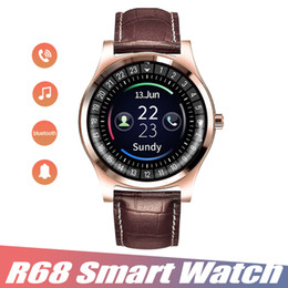 $enCountryForm.capitalKeyWord NZ - Smart Watch R68 Bluetooth Smartwatch Support SIM Card Camera Pedometer Fitness Tracker IOS and Android Smart Watch SMS Dial with Retail Box
