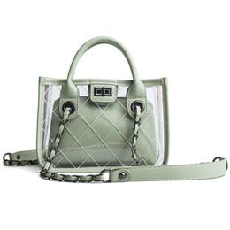 b58847b352 Designer Jelly Bags UK - Summer New Transparent Fashion Women Chain  Messenger Bag Beach Jelly Female