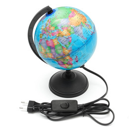 $enCountryForm.capitalKeyWord UK - 17cm Led Light World Earth Globe Map Geography Educational Toy With Stand Home Office Ideal Miniatures Gift Office Gadgets