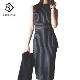 $enCountryForm.capitalKeyWord Australia - 2018 Spring Women Elegant Straigt Women's Dresses Sleeveless Sashes Pullover Color Block Dresses Korean Style Hot Sales D84208L T5190606