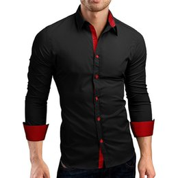 73245c4f076 Discount stylish black shirt v neck - 2018 New Style Fashion Patchwork  Button Luxury Men s Stylish