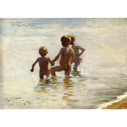 Hand Painting Beach Australia - Peder Severin Kroyer paintings A Summers Day at Skagen South Beach canvas Danish art hand-painted home decor