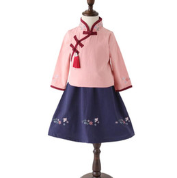 $enCountryForm.capitalKeyWord Australia - Chinese style national children's clothing Hanfu suit girls baby cheongsam Chinese Tang suit girls spring and autumn kindergarten clothes