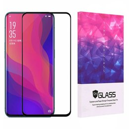 screen protector oppo Canada - 3D Tempered Glass Full Glue Screen Protector For Oppo Find X Full Adhesive Case Friendly Glass Protector With Retail Package
