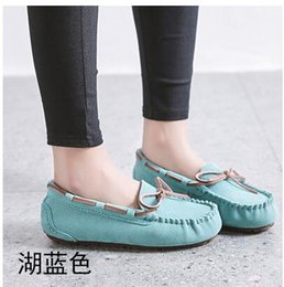 $enCountryForm.capitalKeyWord Australia - Peas shoes women spring and summer 2019 new 22 color net red bow leather maternity shoes fashion casual comfortable flat non-slip shoes free