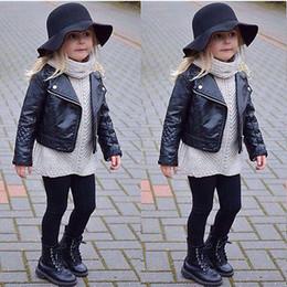 $enCountryForm.capitalKeyWord Australia - Fashion Toddler Kids Girl Clothes Motorcycle PU Leather Jacket Biker Coat Overcoat Black Winter Autumn Long Sleeve Outwear