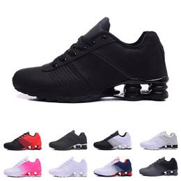 the latest ee8df c1830 2019 nike shox Deliver 809 cojines para hombre mujer diseñador para hombre  entrenador triple negro blanco púrpura mujeres zapatillas deportivas de  moda ...